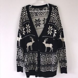 Forever 21 reindeer cardigan size 3x